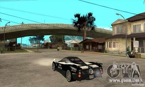 Pagani Zonda F Speed Enforcer BETA für GTA San Andreas rechten Ansicht