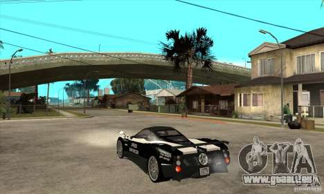 Pagani Zonda F Speed Enforcer BETA pour GTA San Andreas vue de droite