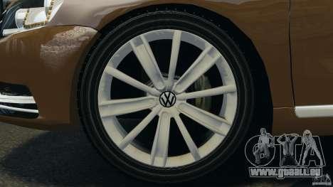 Volkswagen Passat Variant B7 für GTA 4 Innenansicht