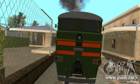 Locomotive 2te116 pour GTA San Andreas sur la vue arrière gauche
