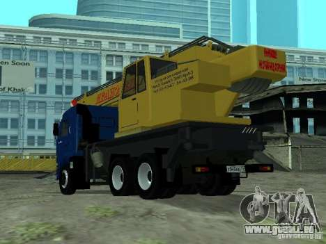 KAMAZ 65117 Ivanovets pour GTA San Andreas sur la vue arrière gauche