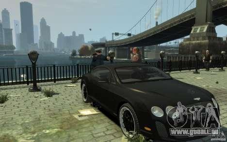 Bentley Continental GT SS für GTA 4 Rückansicht