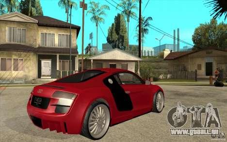 Audi R8 5.2 FSI custom für GTA San Andreas rechten Ansicht