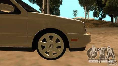 Volkswagen Golf MK3 VR6 für GTA San Andreas obere Ansicht