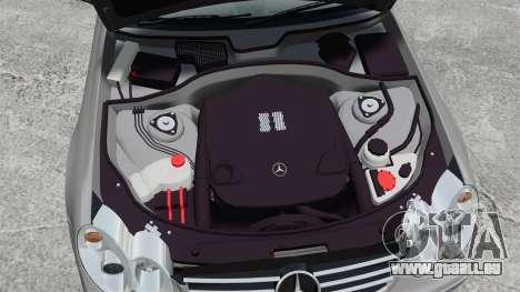 Mercedes-Benz CLK 55 AMG Stock pour GTA 4 est une vue de l'intérieur