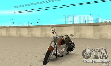 Harley Davidson FLSTF (Fat Boy) v2.0 Skin 2 pour GTA San Andreas