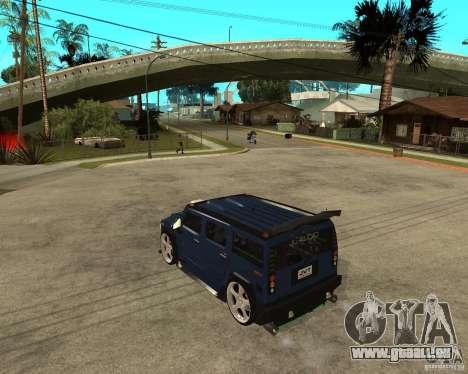 AMG H2 HUMMER Jvt HARD exclusive TUNING pour GTA San Andreas laissé vue