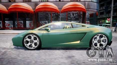 Lamborghini Gallardo pour GTA 4 est une vue de dessous