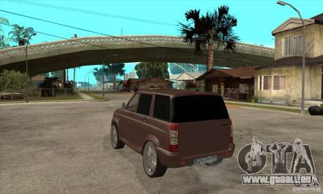 UAZ Patriot pour GTA San Andreas vue de droite