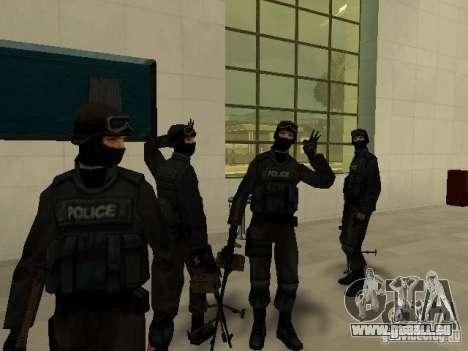 Aide Swat pour GTA San Andreas deuxième écran