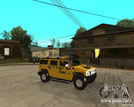 AMG H2 HUMMER TAXI pour GTA San Andreas vue de droite