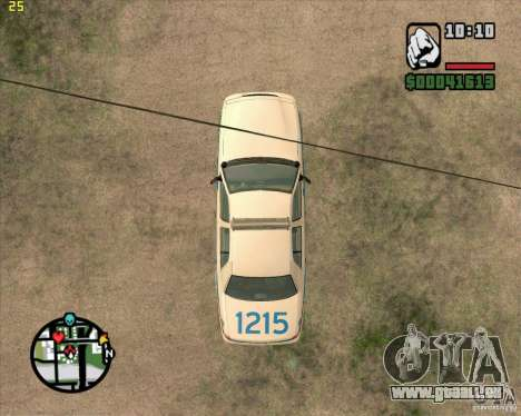Ford Crown Victoria Baltmore County Police pour GTA San Andreas vue arrière