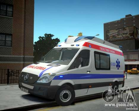 Mercedes-Benz Sprinter Azerbaijan Ambulance v0.2 pour GTA 4