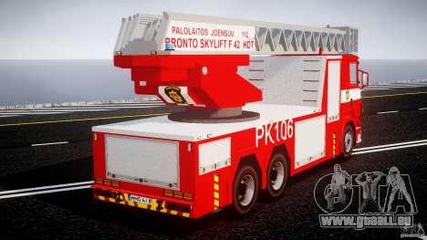 Scania R580 Fire ladder PK106 [ELS] für GTA 4 Innenansicht