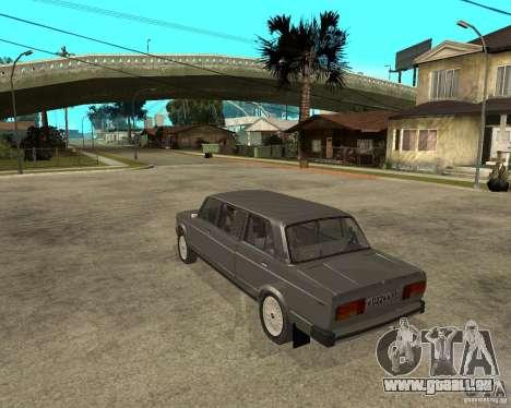 VAZ 2105 Limousine pour GTA San Andreas laissé vue
