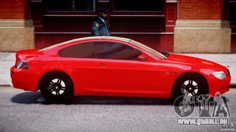 BMW M6 Orange-Black Bullet pour GTA 4 est un côté