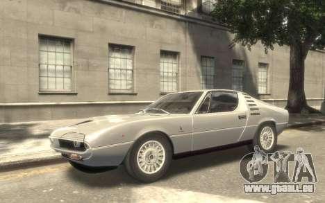 Alfa Romeo Montreal 1970 für GTA 4 Rückansicht