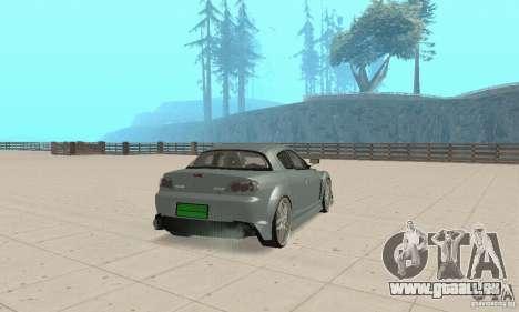 Mazda RX-8 Tuning pour GTA San Andreas vue de droite