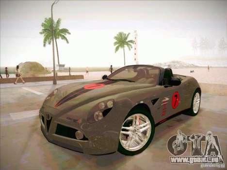 Alfa Romeo 8C Spider für GTA San Andreas Seitenansicht