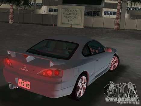 Nissan Silvia spec R Light Tuned pour GTA Vice City sur la vue arrière gauche