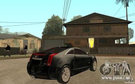 Cadillac CTS V Coupe 2011 pour GTA San Andreas vue de droite