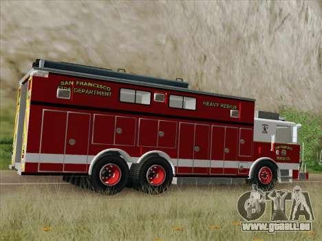 Pierce Walk-in SFFD Heavy Rescue für GTA San Andreas obere Ansicht
