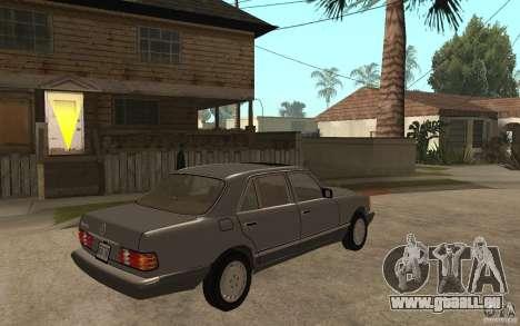Mercedes Benz W126 560 1990 pour GTA San Andreas vue de droite