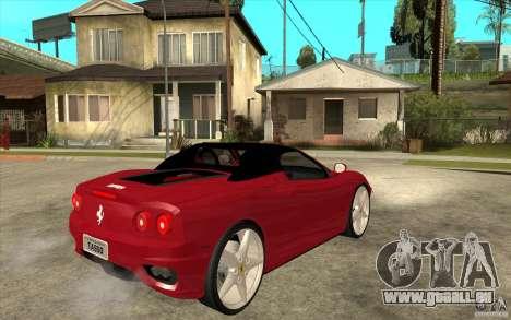 Ferrari 360 Spider für GTA San Andreas rechten Ansicht