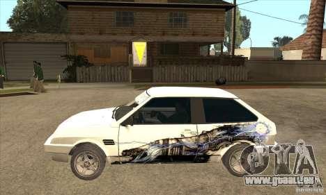 VAZ 2108 à l'écoute pour GTA San Andreas laissé vue
