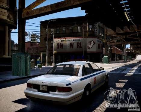 Russian Police Cruiser pour GTA 4 Vue arrière de la gauche