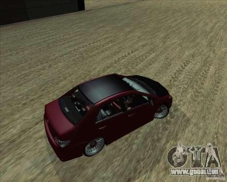 Toyota Corolla 2008 Tuning pour GTA San Andreas laissé vue