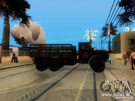 Perméabilité ZIL 4334 supérieur pour GTA San Andreas sur la vue arrière gauche