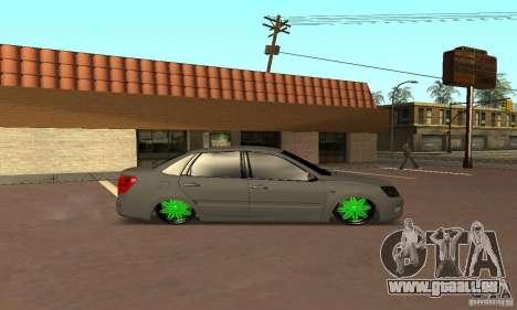 Lada Granta Dag Style pour GTA San Andreas sur la vue arrière gauche