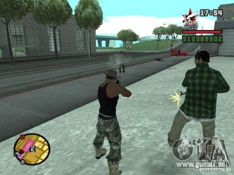 Ein Wachmann für die CJ mit miniganom für GTA San Andreas