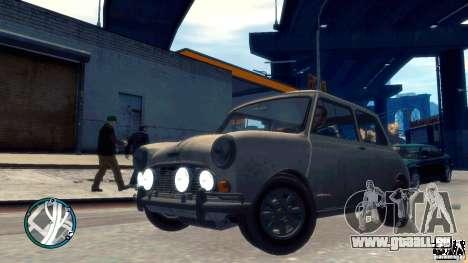 Mini Cooper S pour GTA 4 Vue arrière