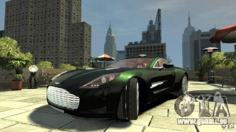 Aston Martin One-77 [EPM] pour GTA 4 Vue arrière