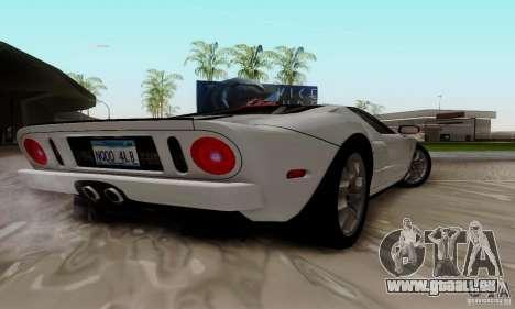 Ford GT 2005 für GTA San Andreas Rückansicht