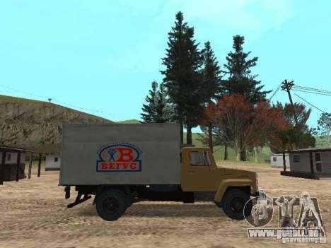 CR 3309 GAZ v2 pour GTA San Andreas laissé vue