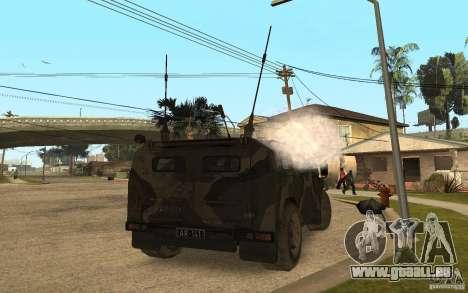 GAZ-2975-Tiger für GTA San Andreas zurück linke Ansicht