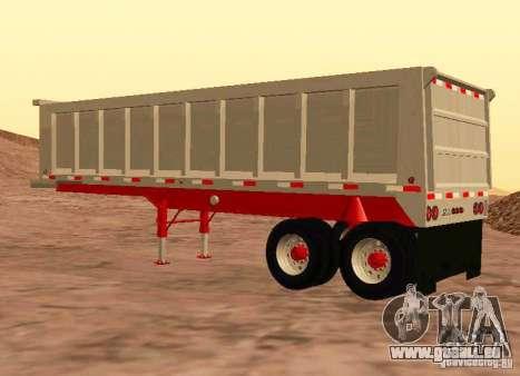Artict3 Dump Trailer für GTA San Andreas rechten Ansicht