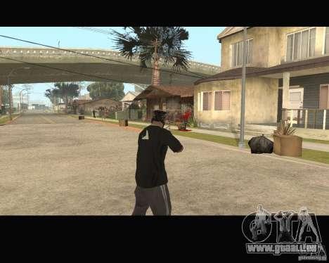 Sangue na tela v2 pour GTA San Andreas troisième écran
