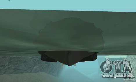 Bateau de Cod mw 2 pour GTA San Andreas vue de droite