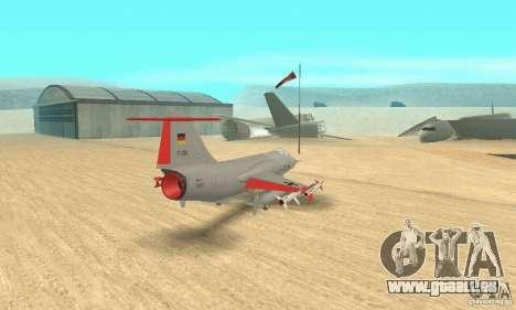 F-104 Starfighter Super (gris) pour GTA San Andreas laissé vue