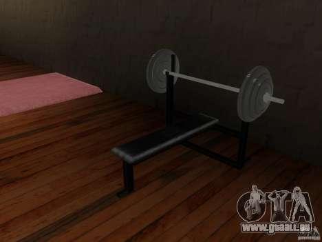 Nouveau poids libres dans la salle de gym pour GTA San Andreas