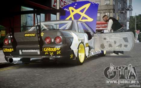 Nissan Skyline R32 FST Drift Korch für GTA 4 Rückansicht