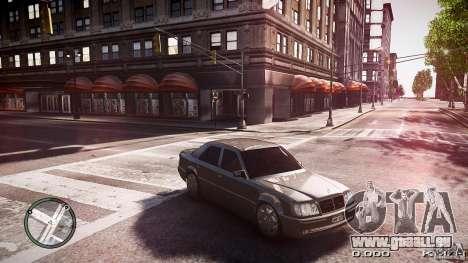 Mercedes Benz W124 E500 für GTA 4 hinten links Ansicht