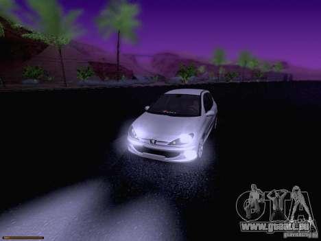 Peugeot 206 für GTA San Andreas Innen