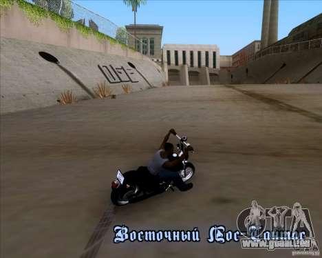 Harley Davidson FXD Super Glide pour GTA San Andreas vue intérieure