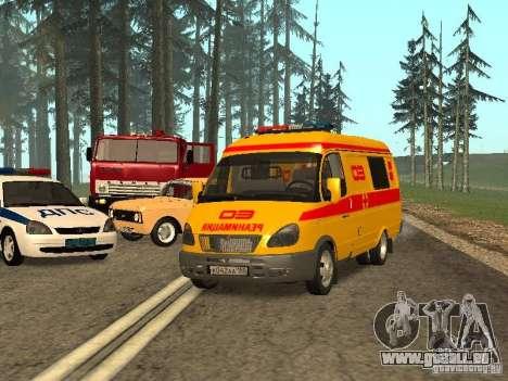 GAZ réanimation 32217 pour GTA San Andreas vue arrière