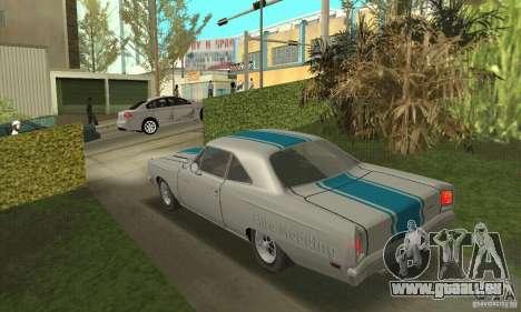 Plymouth Roadrunner 383 für GTA San Andreas Innenansicht